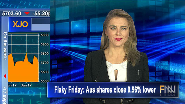 Flaky Friday: Aus shares close 0.96% lower