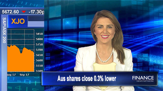 World events weigh, Aus dollar shines: Aus shares close 0.3% lower