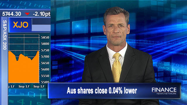 Flat day of trade: Aus shares close .04% lower