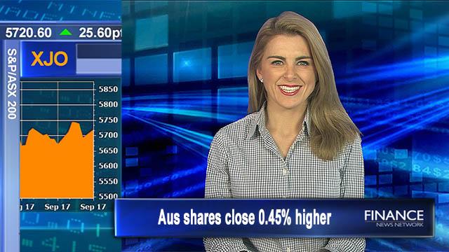 Positive start: Aus shares closed 0.45% higher