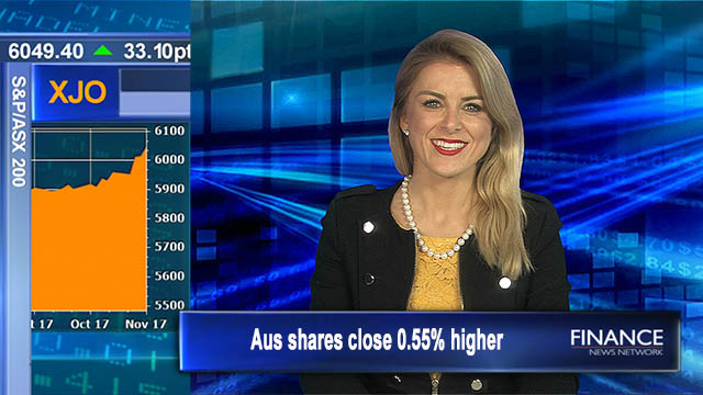 Another smash hit: Aus shares close 0.55% higher