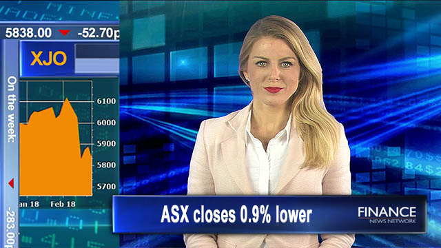 Sour ending: Aus shares close 0.9% lower Friday, 4.9% on week