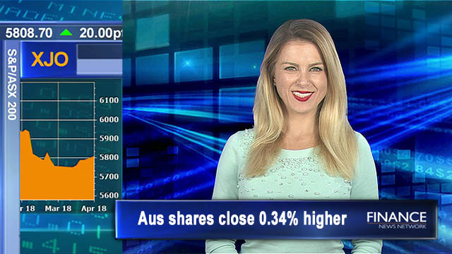 Resilient start for week: Aus shares close 0.34 per cent higher