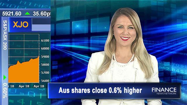 Back above 5,900: Aus shares close 0.6% higher