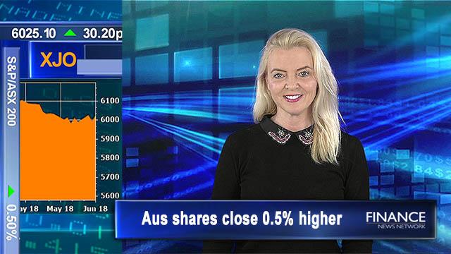 LNG exports help GDP: Aus shares close higher