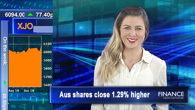 Photo finish: Aus shares close 1.3% higher