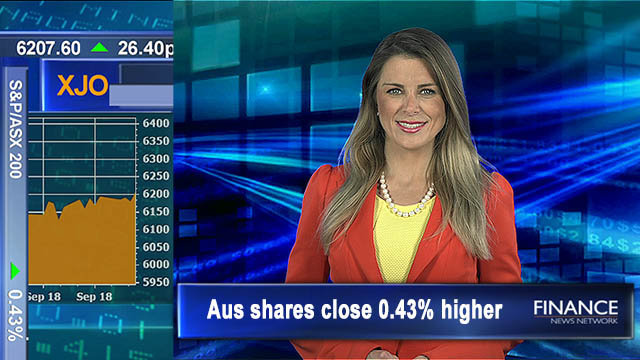 Energy up most in Sep: Aus shares close 0.4% higher, 3 week high