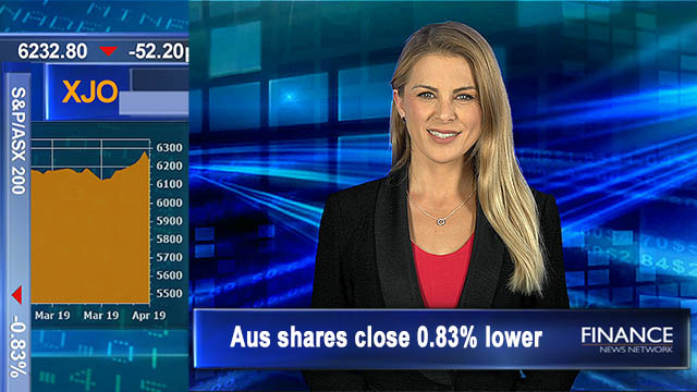 ASX erases yesterday's gains on profit taking, Oil 2019 high: Aus shares close 0.8% lower