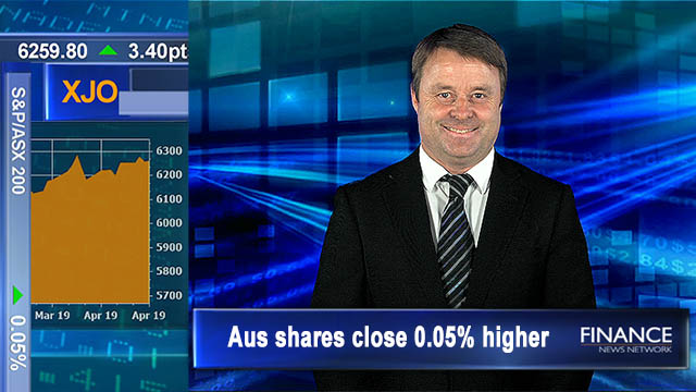 Flat finish: Aus shares close 0.05% higher