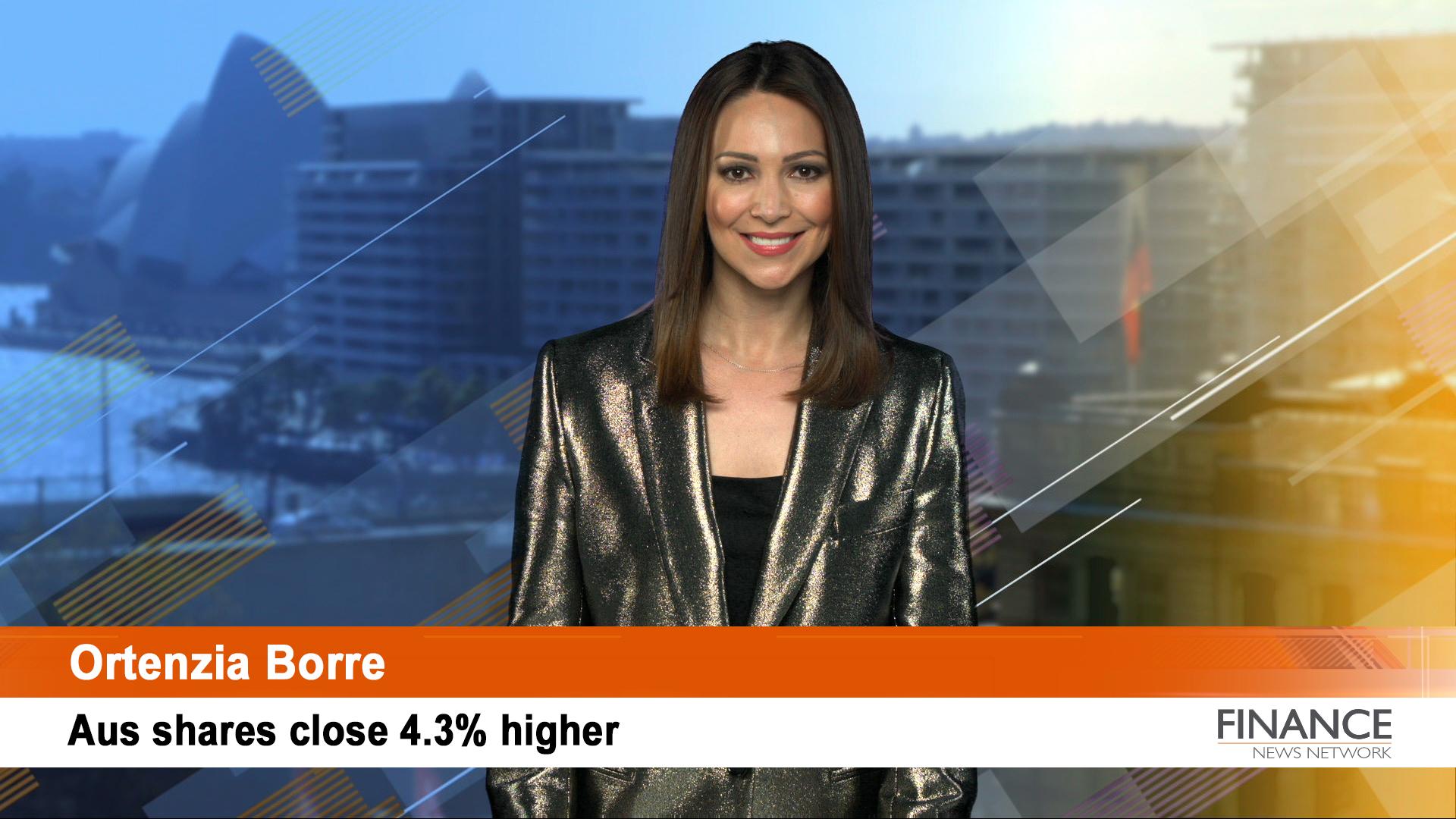 ASX soars: Aus shares close 4.3% higher