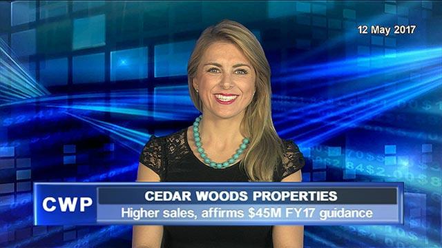 Cedar Woods Properties: Higher sales, affirms $45M FY17 guidance
