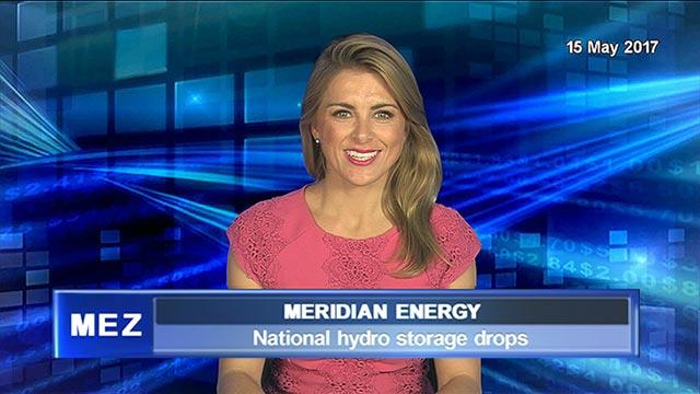 Meridian Energy National hydro storage drops