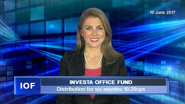 Investa Office Fund's distribution for six months 10.20cps