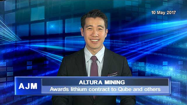 Altura Mining awards lithium contract to Qube and others