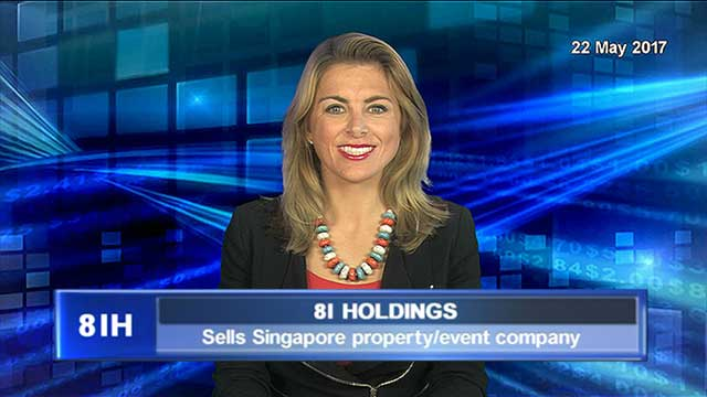 8I Holdings to sell Singapore property/event company