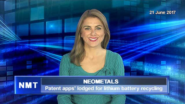 Neometals lodges patent applications for lithium battery recycling