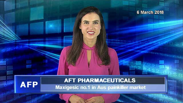AFT's maxigesic hits no.1 in Aus painkiller market