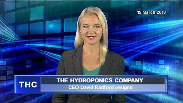 CEO of the Hydroponics Company resigns