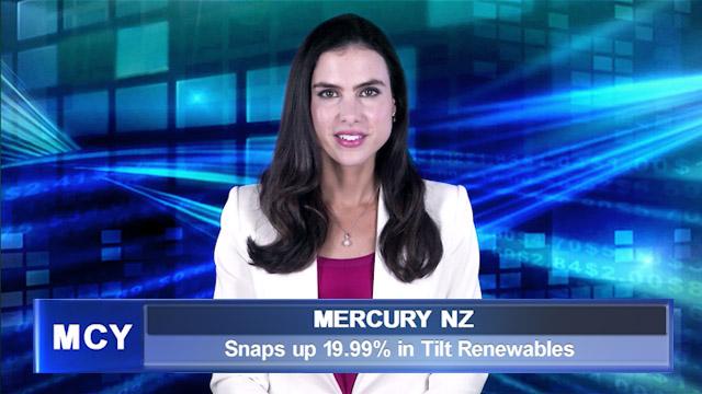 Mercury NZ snaps up 19.99% in Tilt Renewables