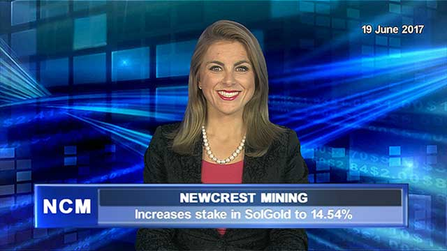 Newcrest increases stake in SolGold to 14.54%