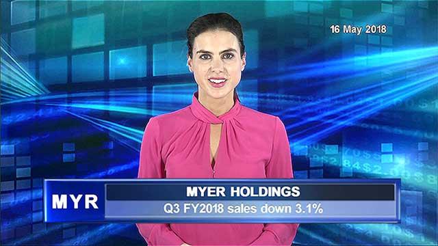 Myer Q3 FY2018 sales down 3.1%
