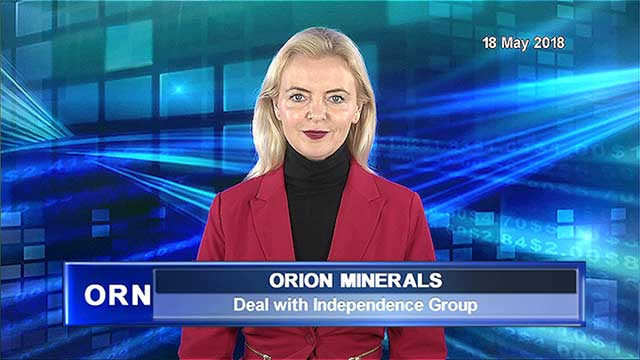 Orion Minerals enters deal with Independence Group