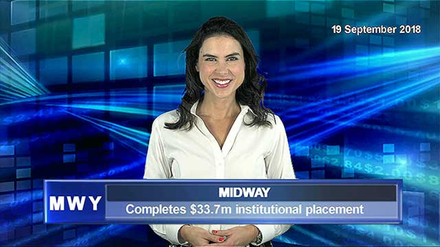 Midway completes $33.7m institutional placement