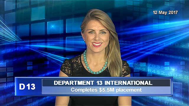 Department 13 completes $5.5M placement