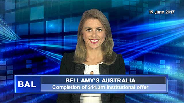 Bellamy's completes $14.3m institutional offer
