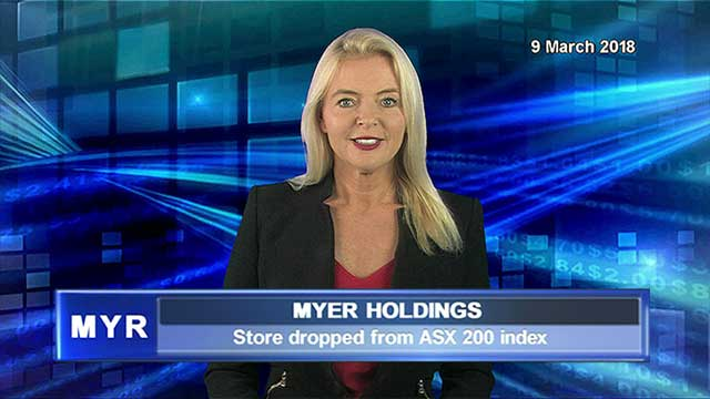 Myer dropped from the S&P/ASX 200