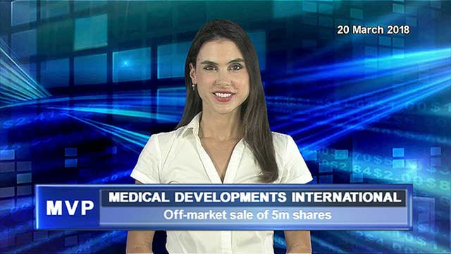 Medical Developments International announces off-market sale of 5 million shares