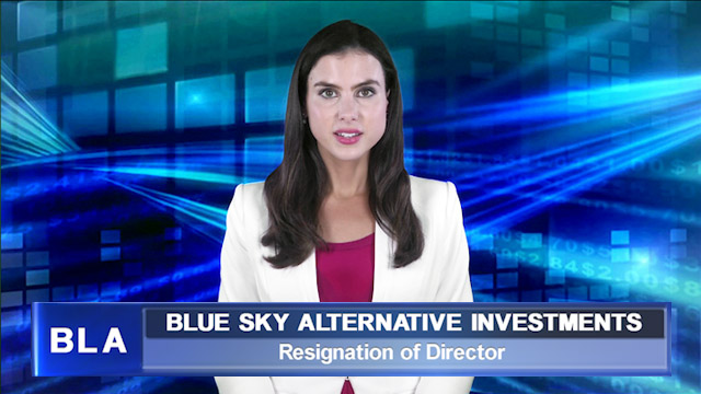Blue Sky announces resignation of another director