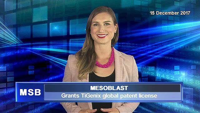 Mesoblast grants TiGenix global patent license