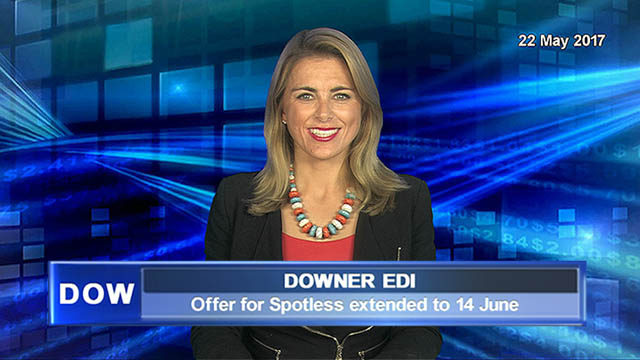 Downer EDI extends Spotless takeover offer to 14 June 2017