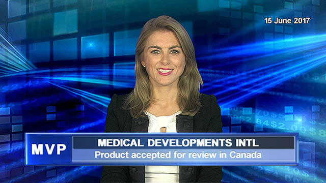 Medical Developments International's product accepted for review in Canada