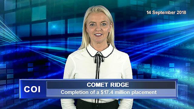Comet Ridge completes $17.4m placement