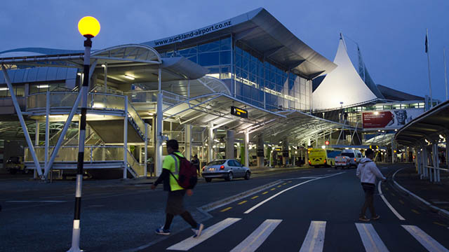 Auckland airport sees board movements