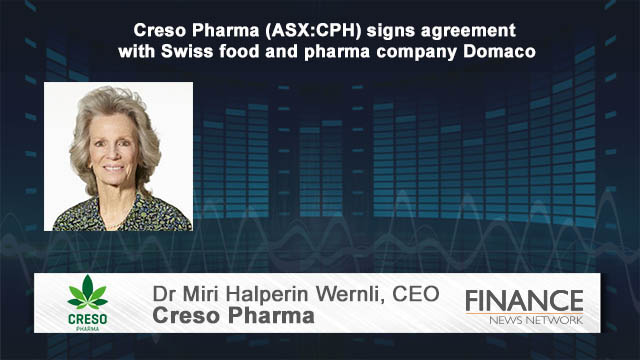 Creso Pharma (ASX:CPH) signs agreement with Swiss food and pharma company Domaco