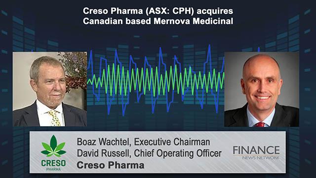 Creso Pharma (ASX:CPH) acquires Canadian-based Mernova Medicinal