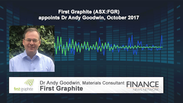 First Graphite (ASX:FGR) appoints Dr Andy Goodwin