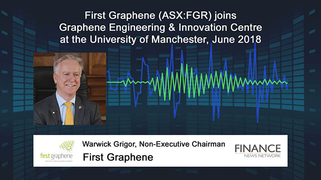 First Graphene (ASX:FGR) joins Graphene Engineering and Innovation Centre at University of Manchester