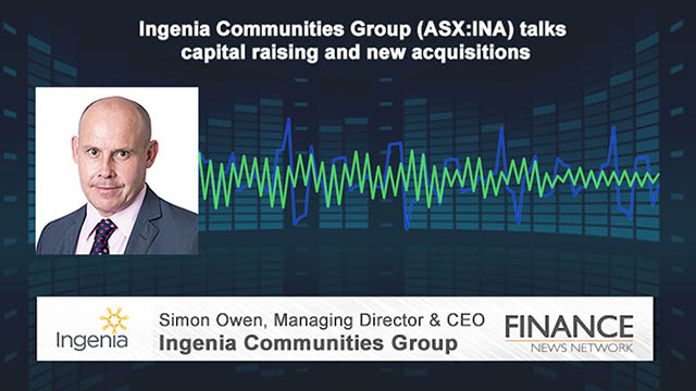 Ingenia Communities Group (ASX:INA) talks capital raising and new acquisitions