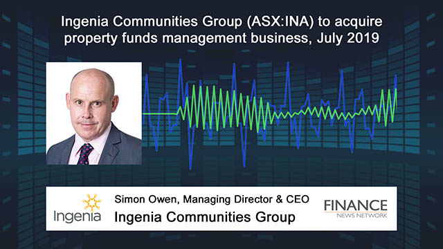 Ingenia Communities Group (ASX:INA) to acquire property funds management business