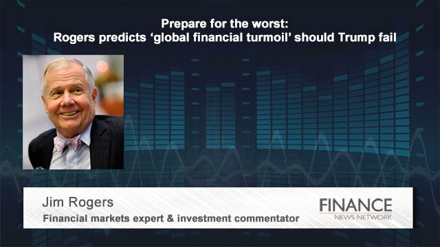 Prepare for the worst: Rogers predicts 'global financial turmoil' should Trump fail