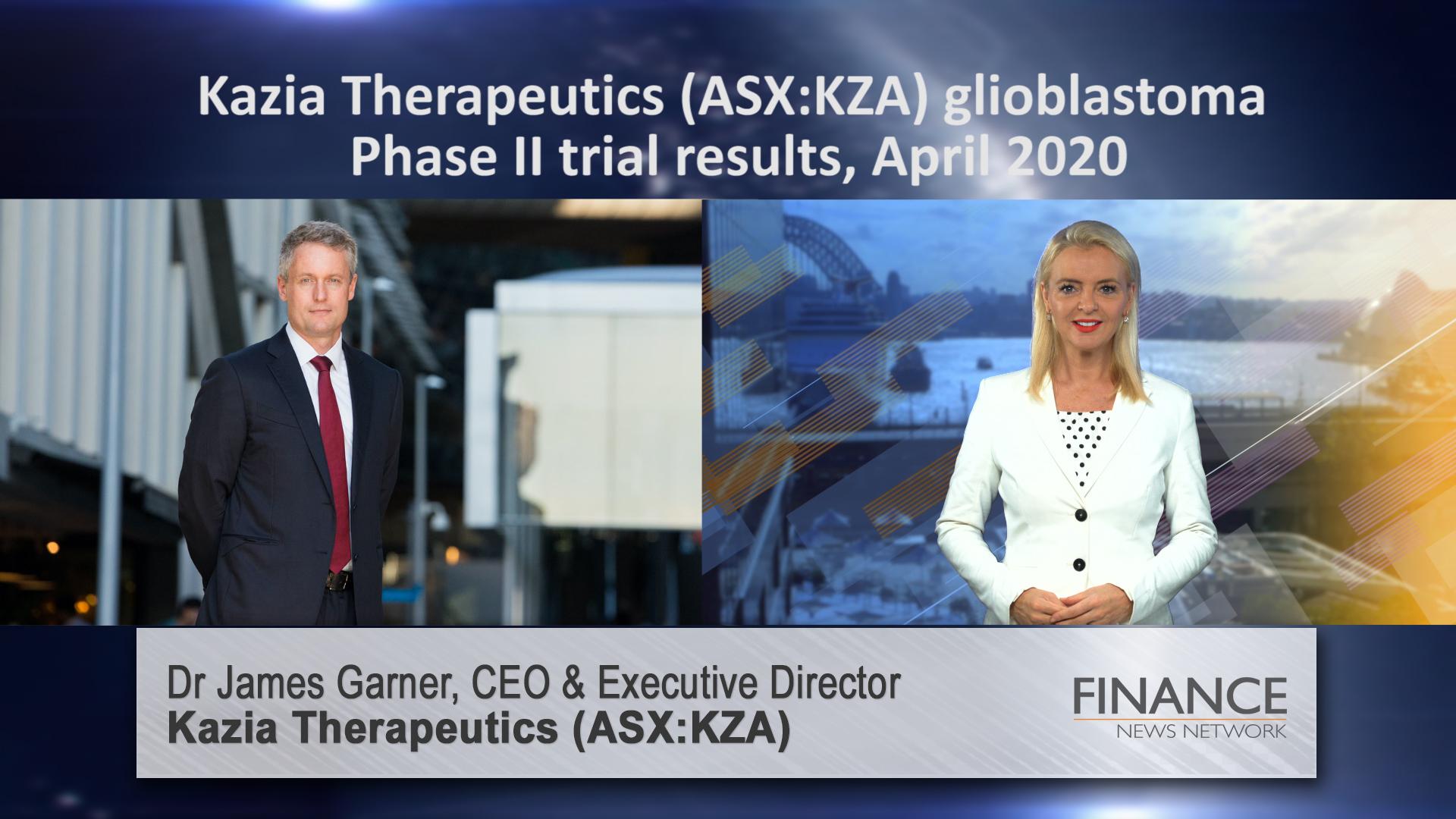 Kazia Therapeutics (ASX:KZA) glioblastoma Phase II trial results