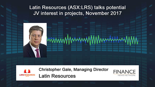 Latin Resources (ASX:LRS) talks potential JV interest in projects
