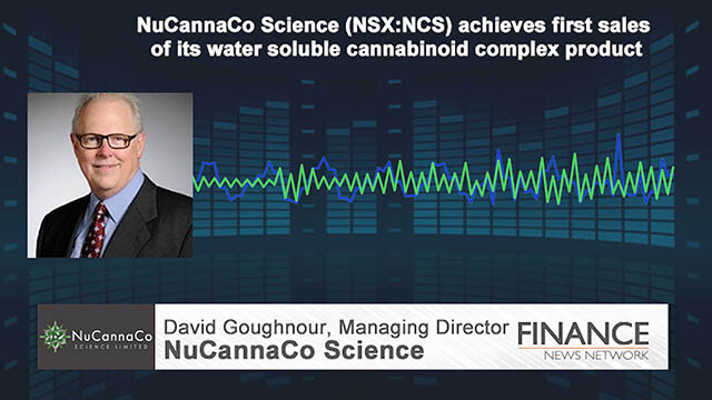 NuCannaCo (NSX:NCS) achieves first sales of its water soluble cannabinoid complex product