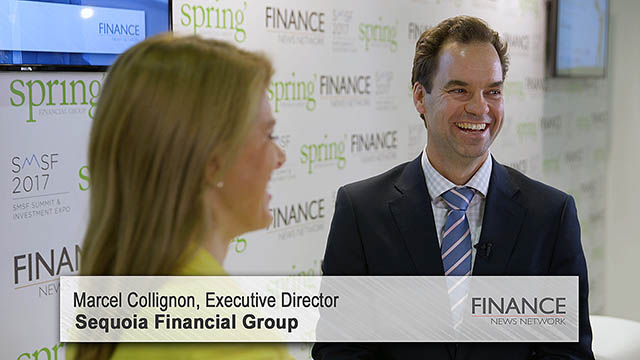 Sequoia Financial Group's Marcel Collignon speaks at the SMSF2017 Summit & Investment Expo, Sydney