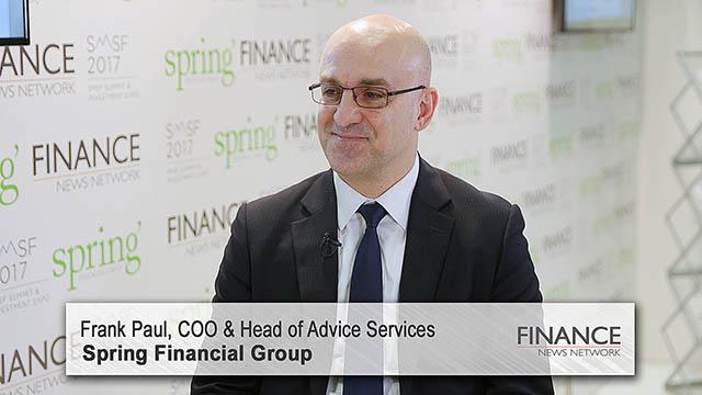 Spring Financial Group's Frank Paul speaks at the SMSF2017 Summit & Investment Expo, Sydney