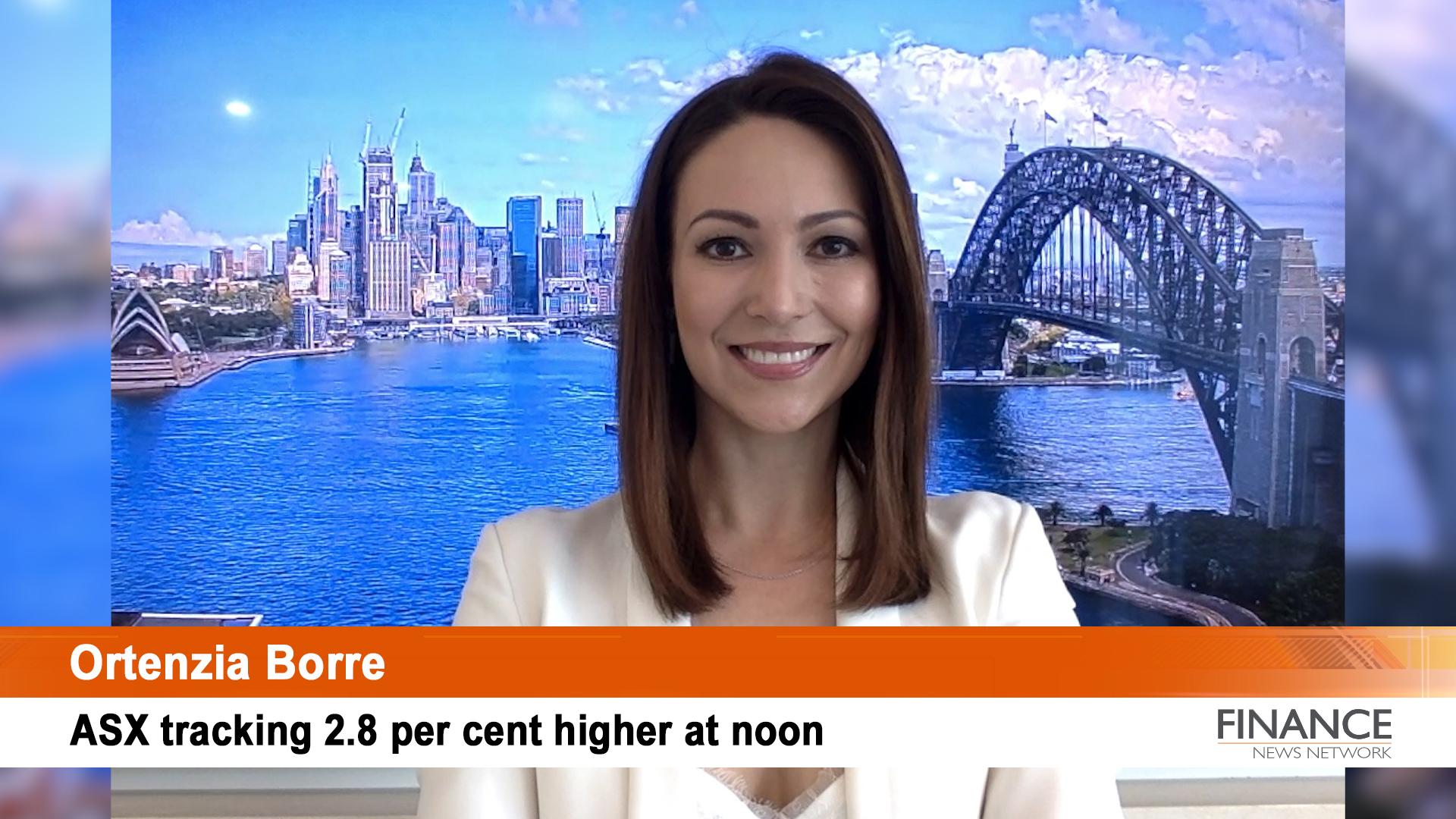 Virgin Australia (ASX:VAH) enters trading halt: Aus shares 2.8% higher at noon